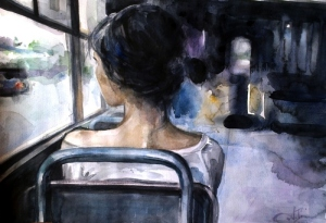 art-girl-bus-loneliness